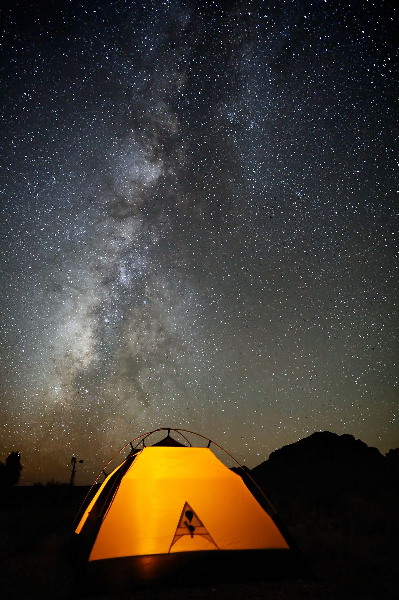 Tent and Stars - Big Bend - Tent and Milky Way on a dark September night & Tent and Stars - Big Bend - Tent and Milky Way on a dark September ...