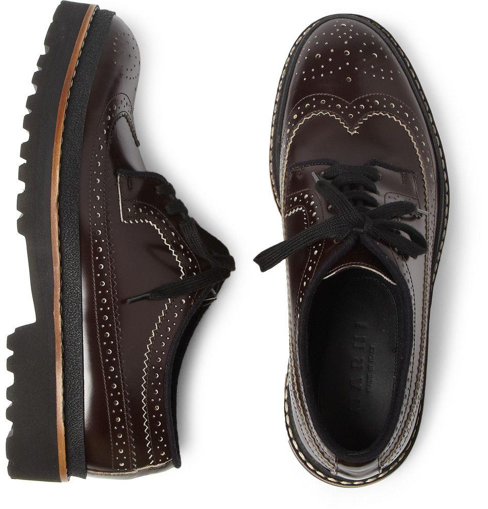 Marni Brown Chunky-Sole Leather