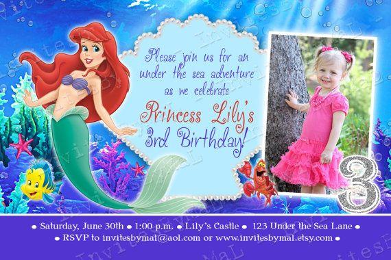 The little mermaid birthday invitation wording by invitesbymal the little mermaid birthday invitation wording by invitesbymal 1500 filmwisefo Gallery
