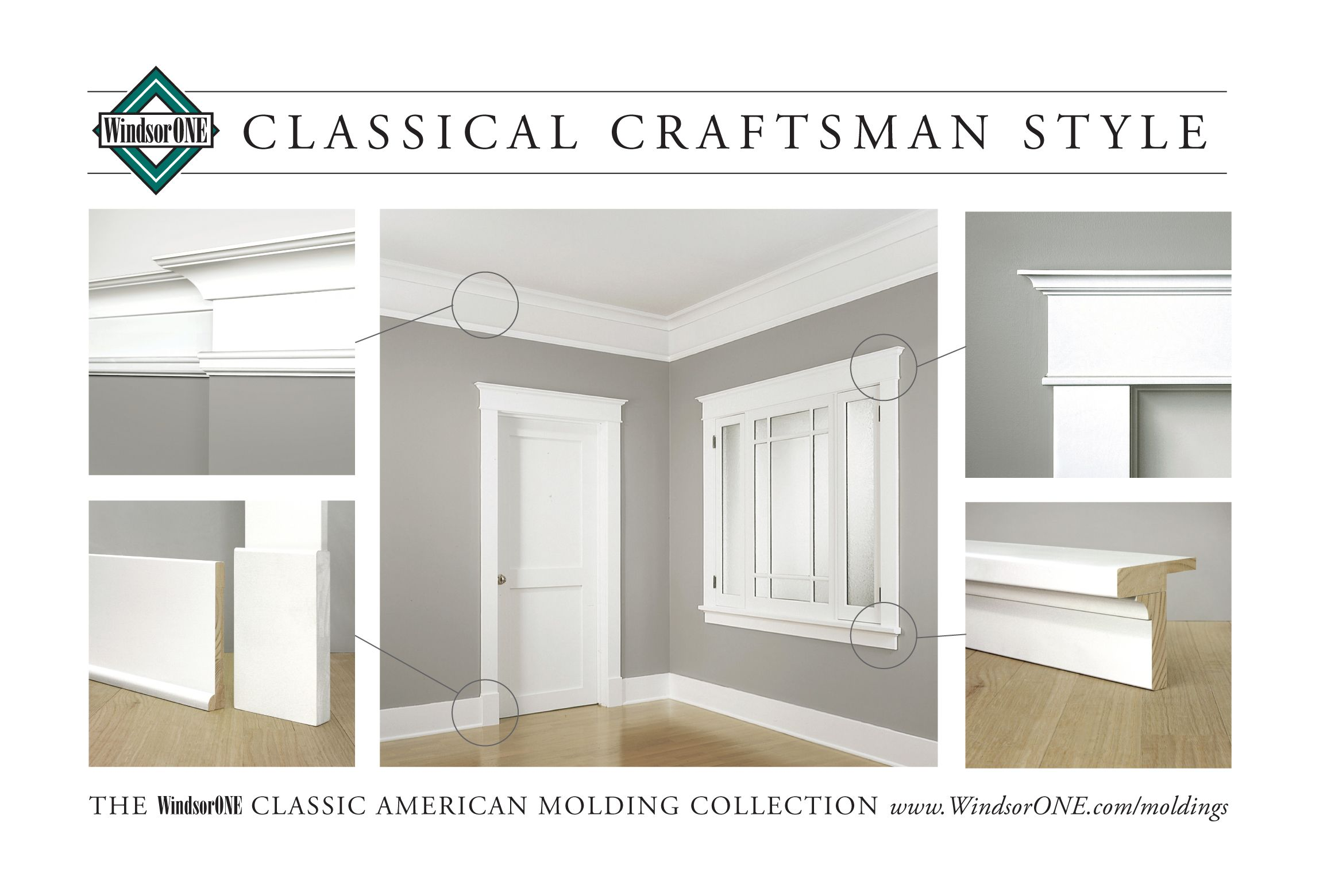 Classical Craftsman Moldings 20th Century Style Windsorone Moldings And Trim Interior Window Trim Craftsman Interior