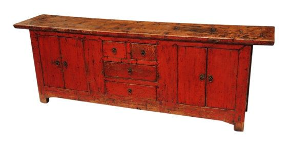 Nice Original Antique Red Buffet Cabinet From Terra Nova Designs Los Angeles On  Etsy, $1,998.00