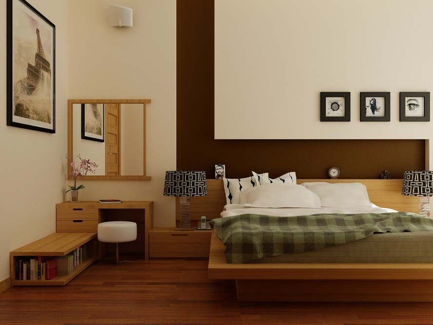 zen-bedroom design--another type of wall treatment behind the