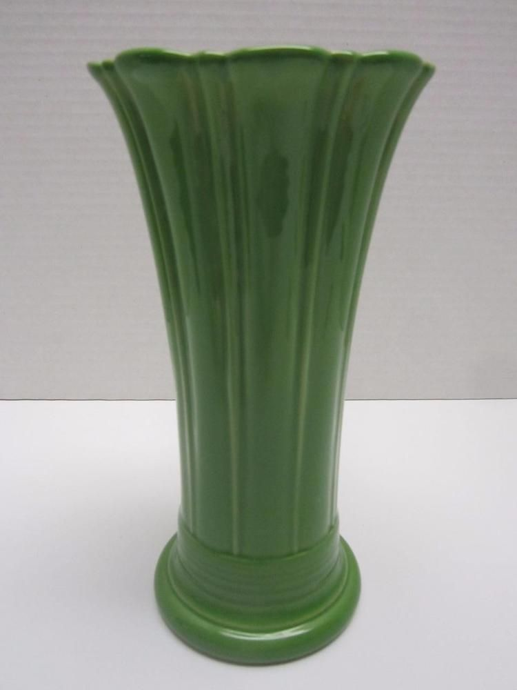 Fiesta Green Vase Flared 9 12 Tall Fiestaware Homer Laughlin