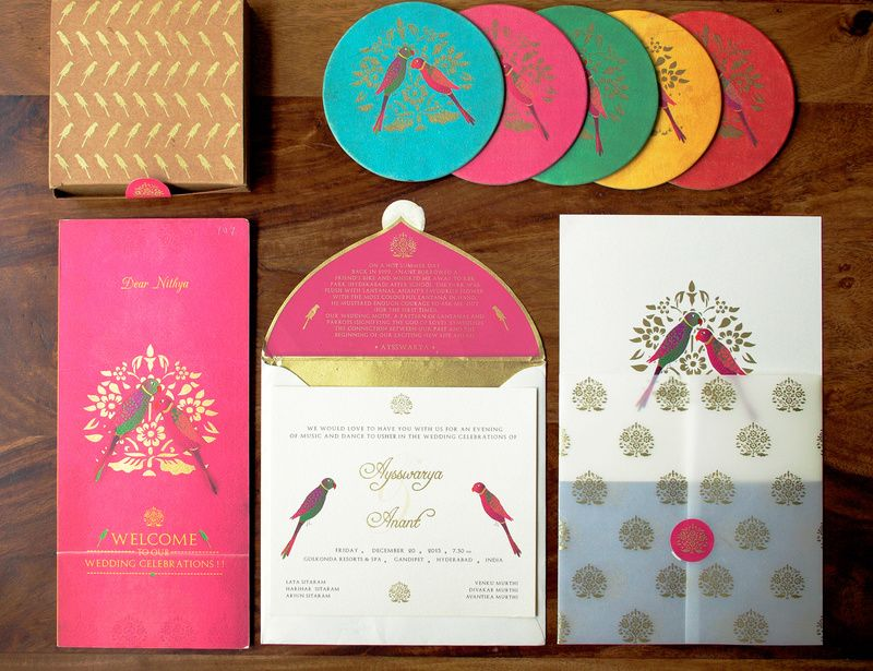 Peacock Themed Invitation Cards Dream Wedding Wedding