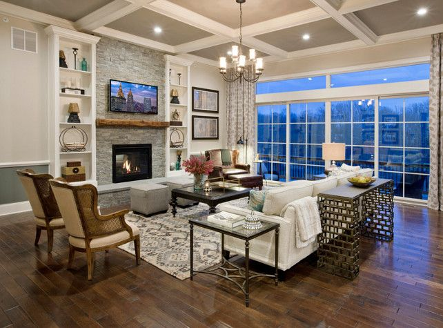 Coffered Ceiling Paint Color The Walls Above Chair Rail