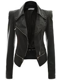 Black Leather Jacket Deri Ceket Mont Moda