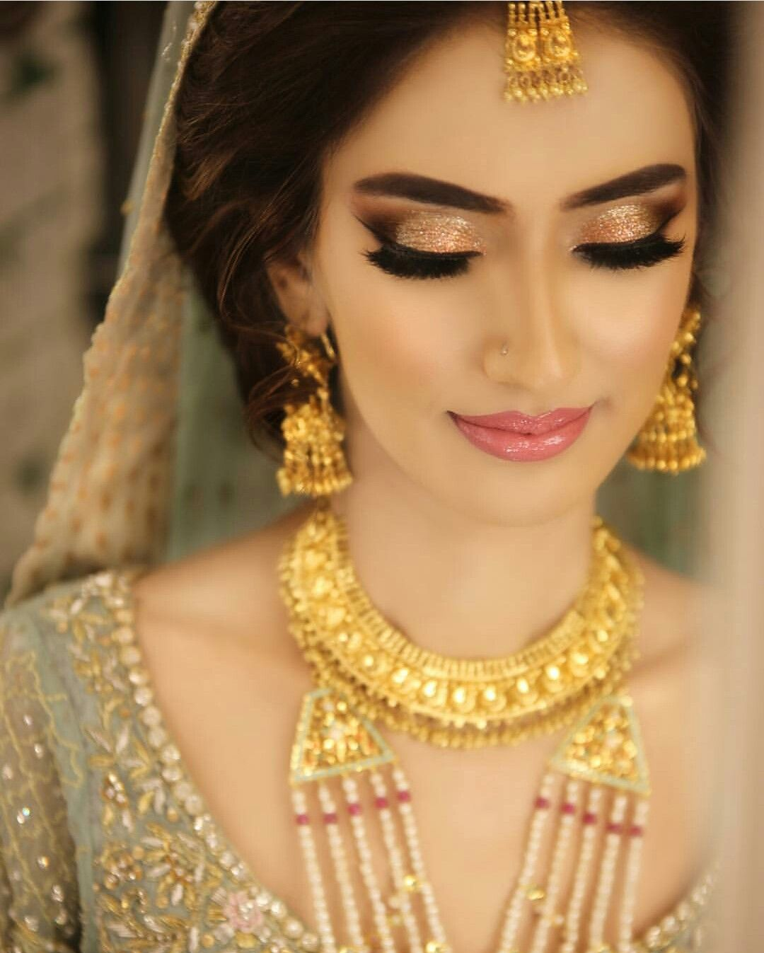 Pakistani Bridal Makeup, Pakistani Wedding Outfits, Indian Bridal Wear, Wedding Hijab Styles,