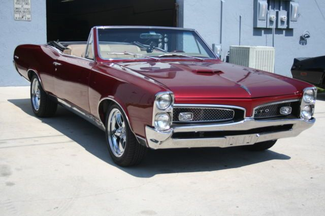 1967 Pontiac Gto Convertible Show Quality Fresh 400ci Motor Dual Gate Shifter Clic For