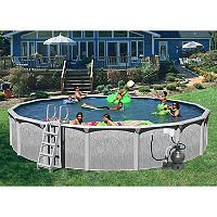 Heritage Rock View Round Deluxe Pool Package 24 X 52 Sam S Club Round Pool Pool In Ground Pools