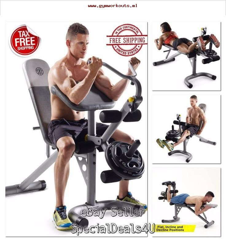 Workout bench weight home gym fitness exercise training arm chest