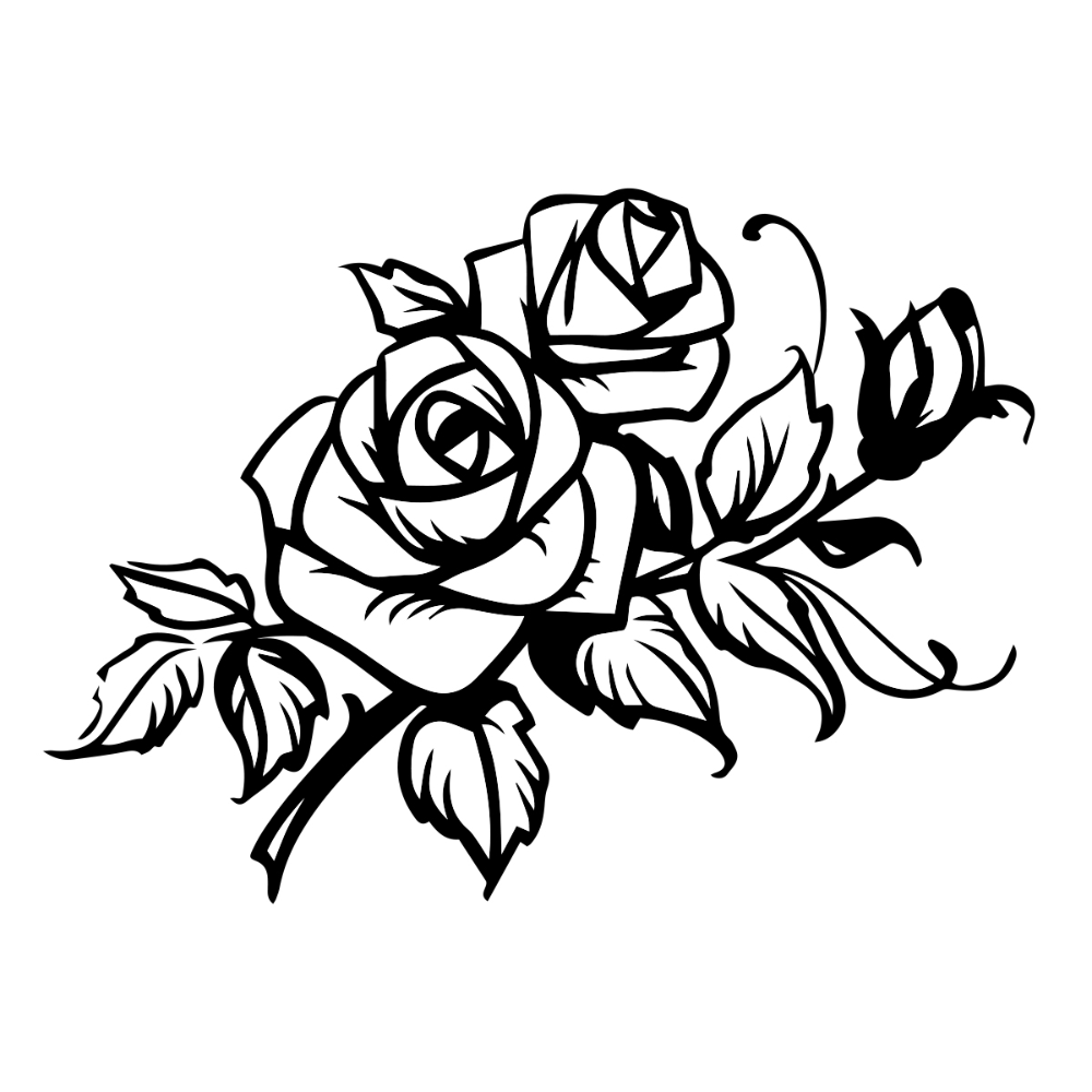 Roses And Leaves Design Auto Car Racing Motorcycle Helmet Decal Motorcycle Helmet Decals Bike Drawing Motorcycle Decals [ 1000 x 1000 Pixel ]