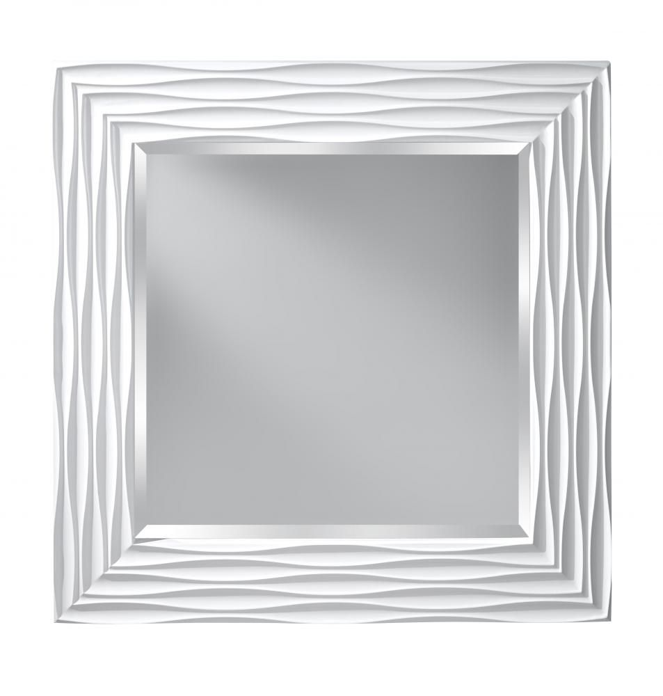 i love the design of this high gloss white frame murrey feiss offers this large - White Frame Mirror