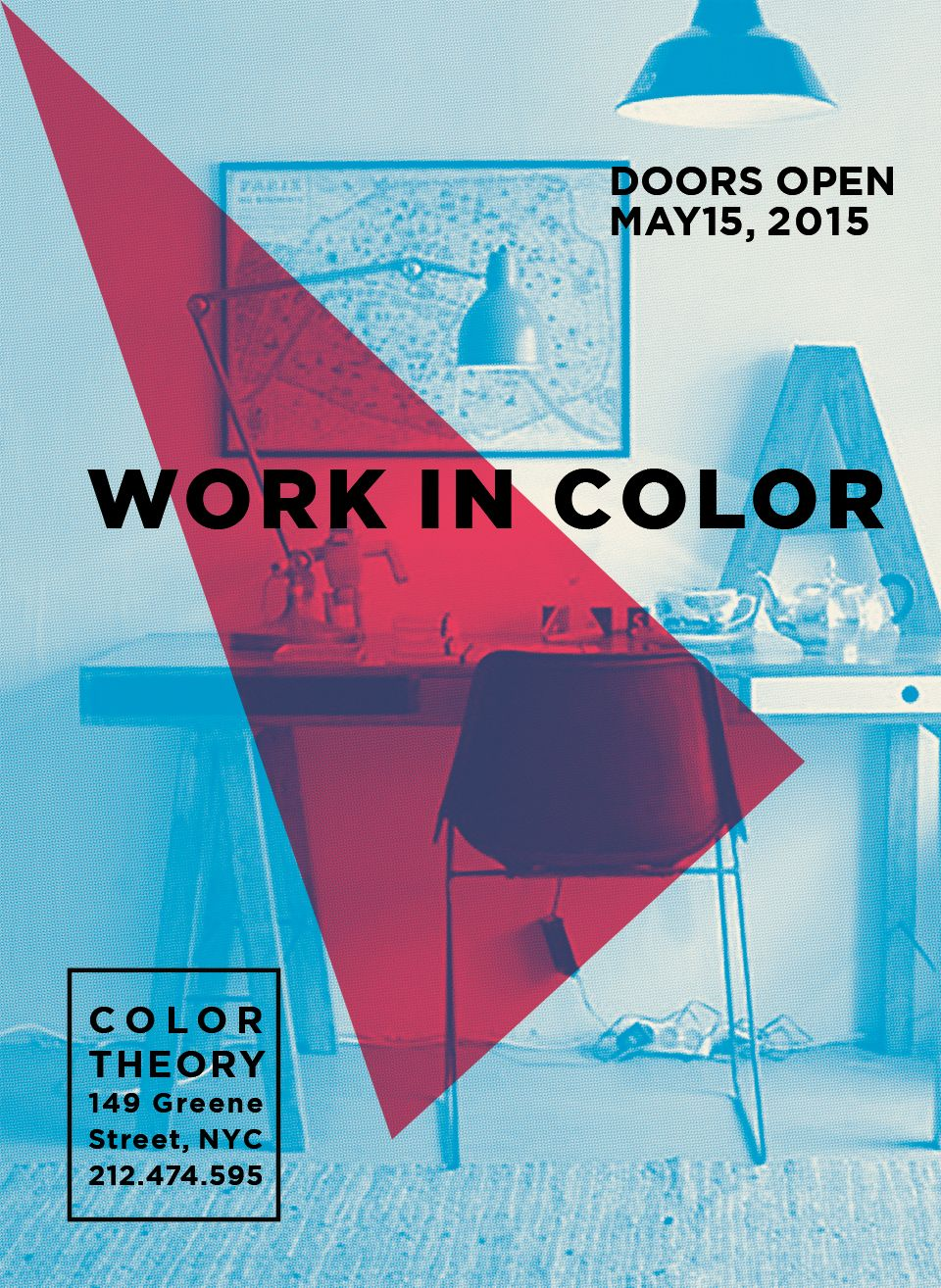 color theorywild poster series for modern furniture store