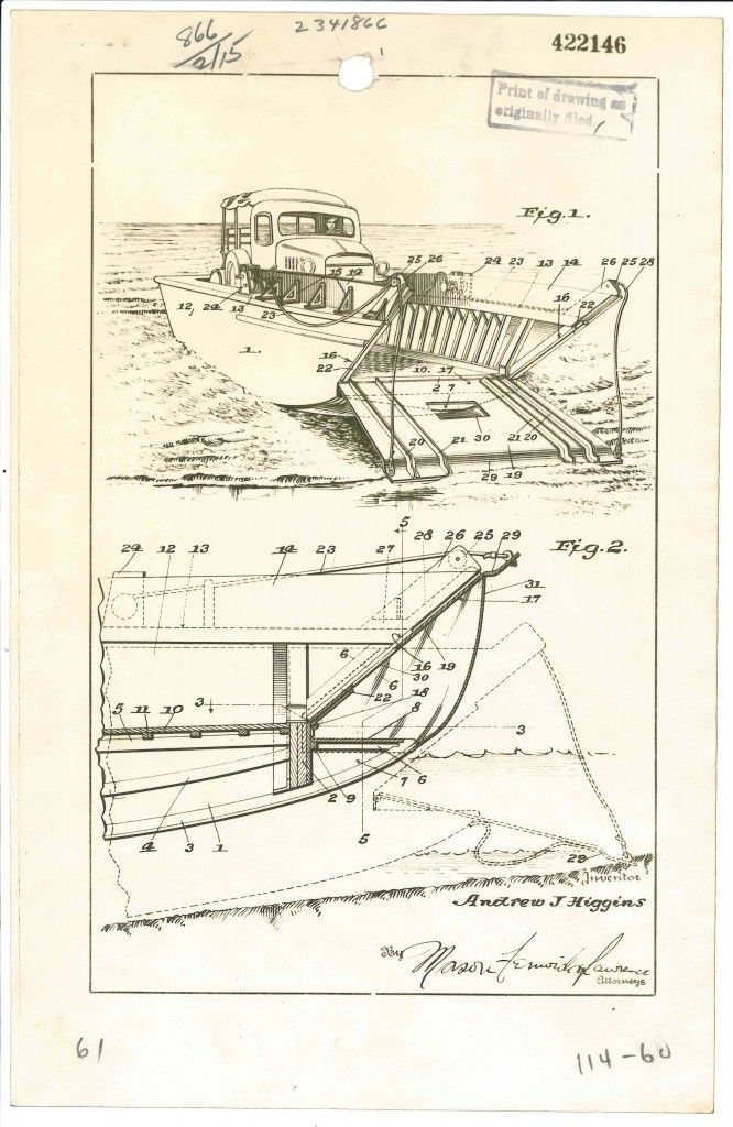 Patent of the Month: Higgins boats | Landing craft, Boat ...