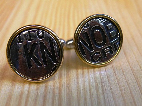 Knob Creek Sterling Silver and Copper Cufflinks