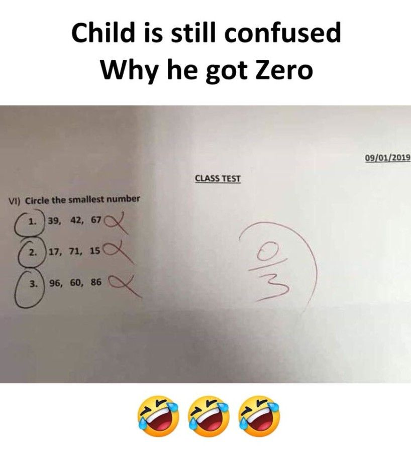Child Confused Why He Got Zero Marks Exam Quotes Funny Fun Quotes Funny Friends Quotes Funny