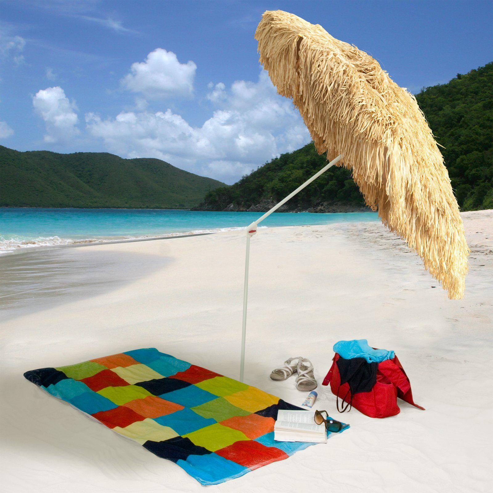 Parasol 6 ft. Palapa Beach Umbrella - Whiskey
