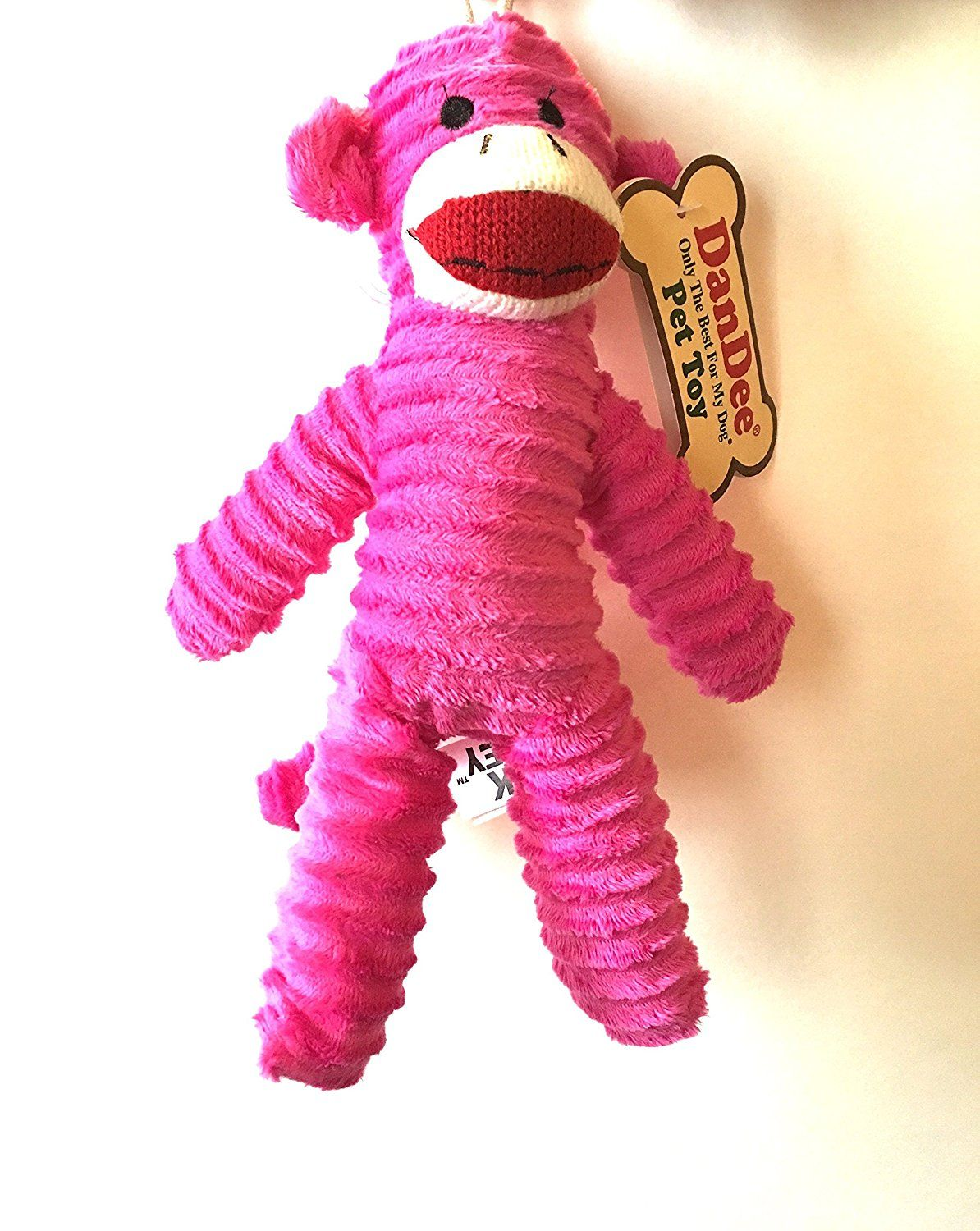 Dandee Only The Best For My Dog Pet Sock Monkey Toy For More