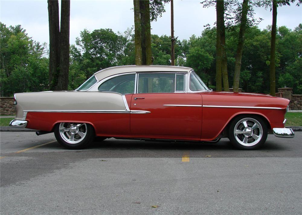 1955 Chevrolet Bel Air 2 Door Hardtop Side Profile 60706 Chevrolet Bel Air 1955 Chevrolet Bel Air