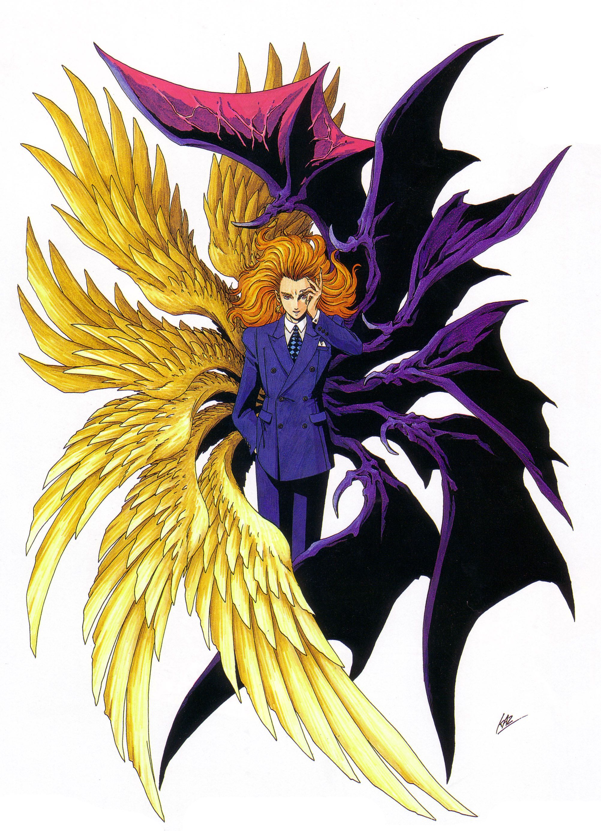 Artwork of Lucifer (or Louis Cyphre) with 12 wings (6