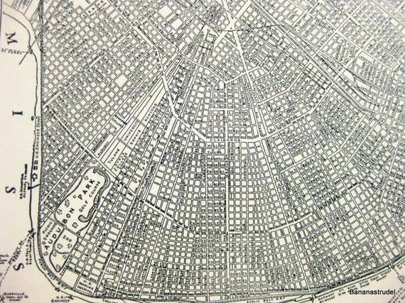 HD Decor Images » Vintage Map of New Orleans  Louisiana  City Map from 1937     Vintage Map of New Orleans  Louisiana  City Map from 1937