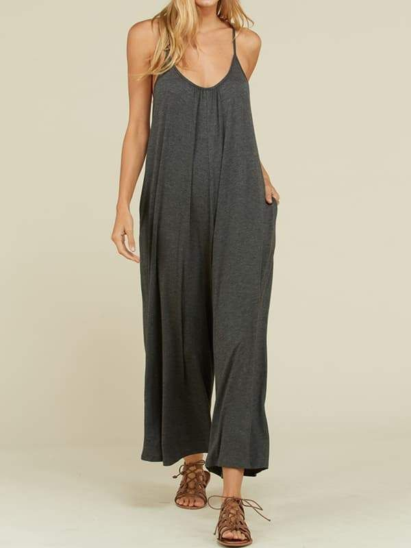 f1684a607f3 Chellysun Casual plus size Wide Leg Jumpsuit chic summer cropped boho  Palazzo wide leg jumpsuit outfit  plussize  plussizefashion  boho  casual   casualstyle ...