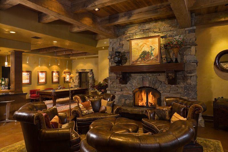 Luxury Man Cave Game Room Bar Rustic Living Room