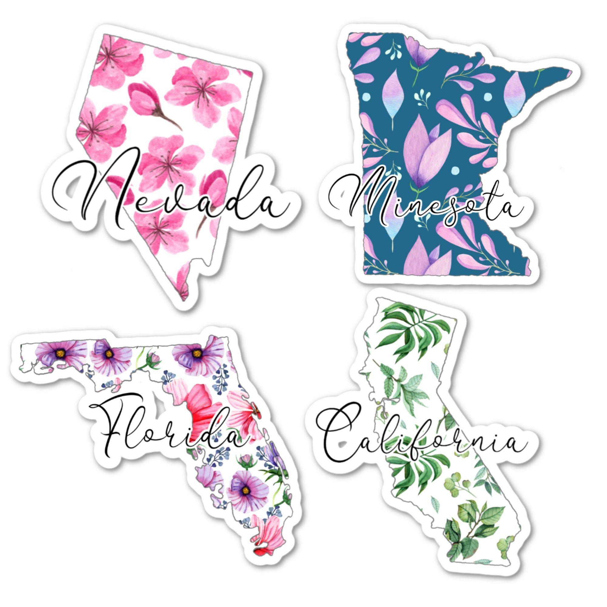 State Stickers State Flower Stickers United States Sticker Waterproof Stickers Vinyl Sticker Florida State Sticker Idaho State Sticker [ 2000 x 2000 Pixel ]