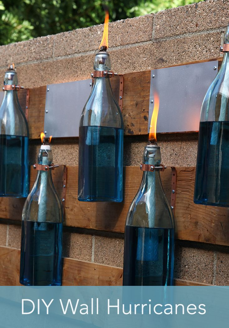 Home Made Simple TV design expert Kenneth Wingard shares his simple instructions for turning old bottles and wicks into a decorative wall of hurricanes. Use his step-by-step instructions to add some fun and function to an outdoor wall. Tune in Saturday mornings at 9a.m. / 8ct on OWN to see more!