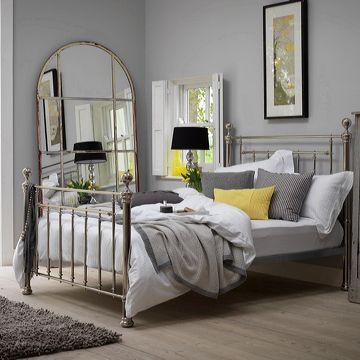 29b11db1c317 Bedroom - Feather   Black Henley Bedstead Nickel