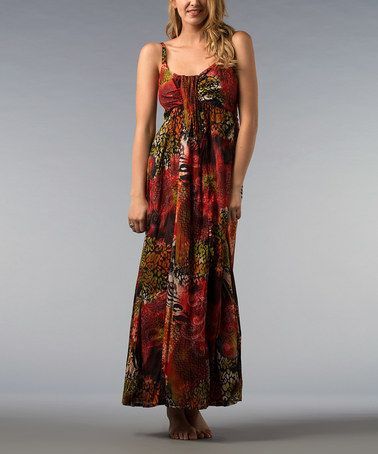 Take a look at this Red & Olive Maxi Dress by Kaktus on #zulily today! $19.99, regular 58.50
