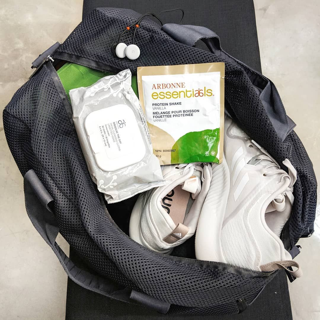 ️ A gym bag packed with all the essentials. Your favourite