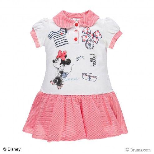 Abito jersey rigato tinto filo Disney Minnie