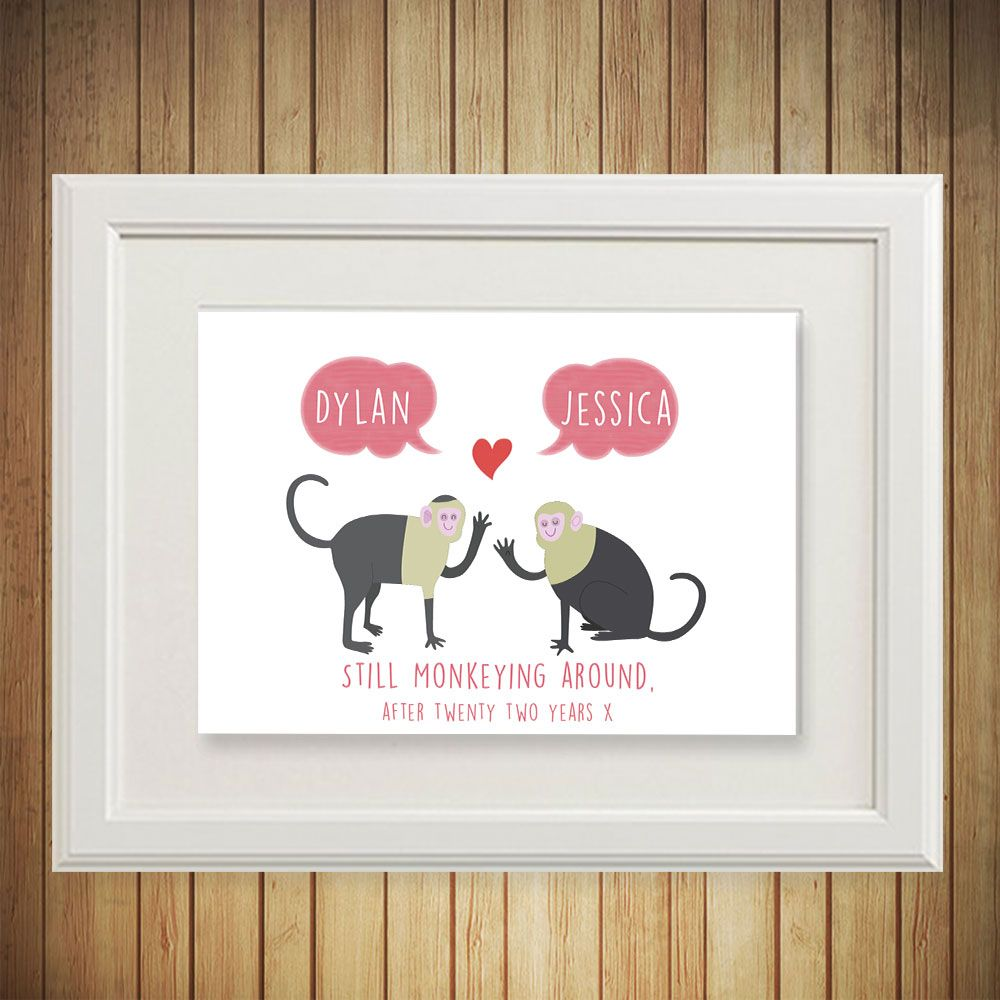 Shop Wall Art The Little Red Elephant Studio Dublin Ireland Monkey Valentine Personalized Baby Gifts Personalized Prints