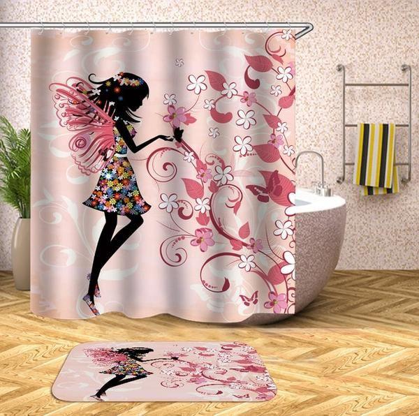 Pink Fairy Shower Curtain Big Badda Boom Printed Shower