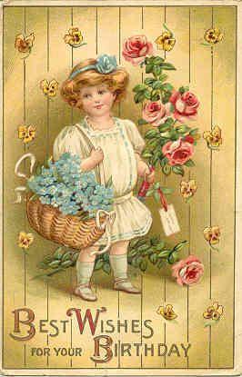 Best Birthday Wishes 1910 Vintage Post Card Vintage Postcards Vintage Birthday Cards Vintage Birthday
