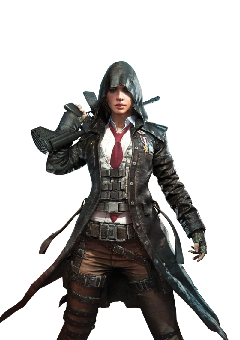 Playerunknown's Battlegrounds female sniper(pubg) PNG