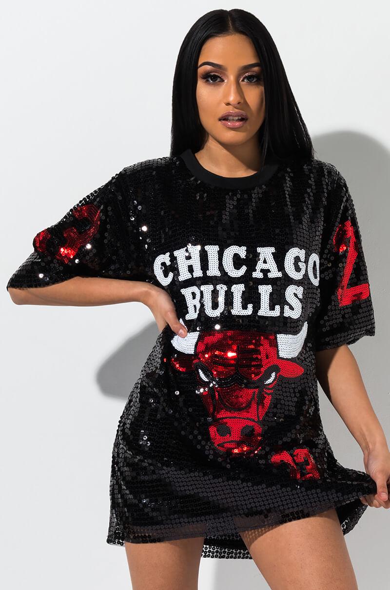 AKIRA Label Sequin Chicago Bulls Jersey