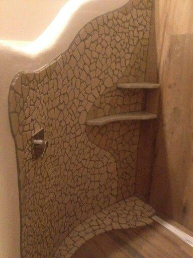 Mosaik aus Naturstein getrommelt Natursteinpro fürs Bad Bäder - naturstein bad