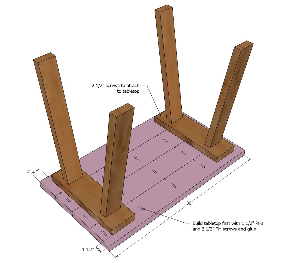 Simple Furniture Plans Ana White Build A Simple Small Trestle Desk Free And Easy Diy