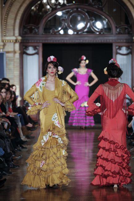 pepa garrido | flamenco fashion | trajes flamenco | fiestas flamenco flamenca | dresses for sevillanas & fiestas FLAMENCO DANCER | Yellow, Pink, Red  Flamenco boutique: flamencoboutique.com Facebook.com/flamencoboutique