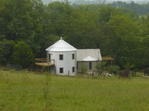 from grain silo to house addition