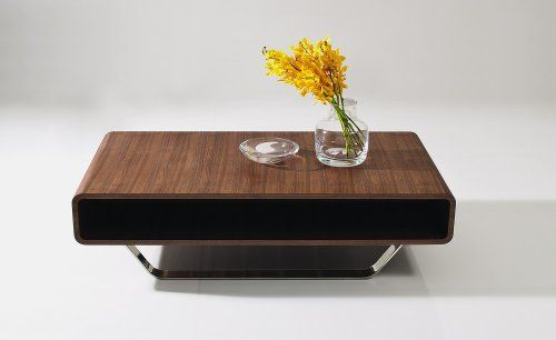 Ju0026M Furniture Modern Walnut Coffee Table 136A
