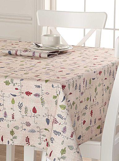La Nappe Feuillage Herbier Nappe Serviette De Table Simons Maison