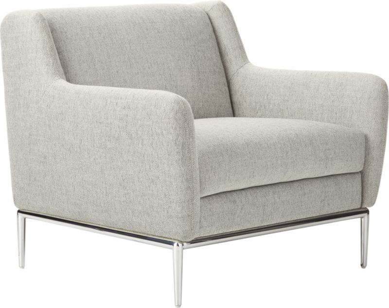 Alfred Dale Grey Chair | Grey upholstered chair, Upholstered