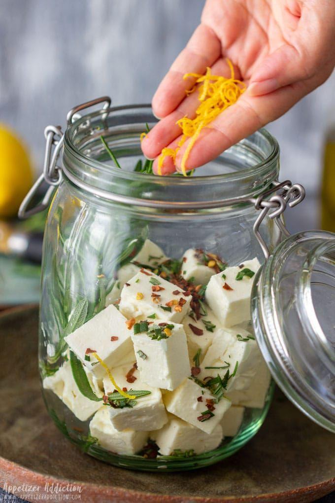 Photo of Rosemary Marinated Feta Cheese Recipe – Appetizer Addiction