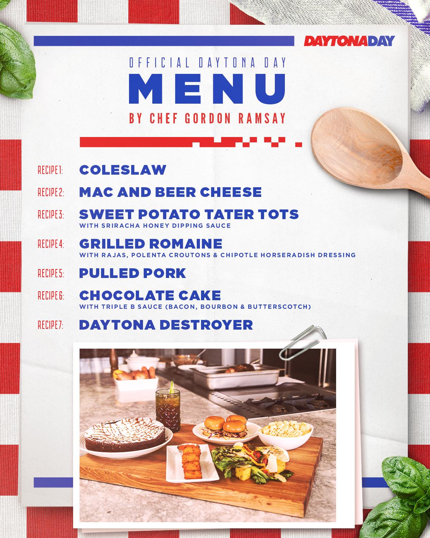 Official Daytona Day Menu presented by Chef Gordon Ramsay   Menu ...