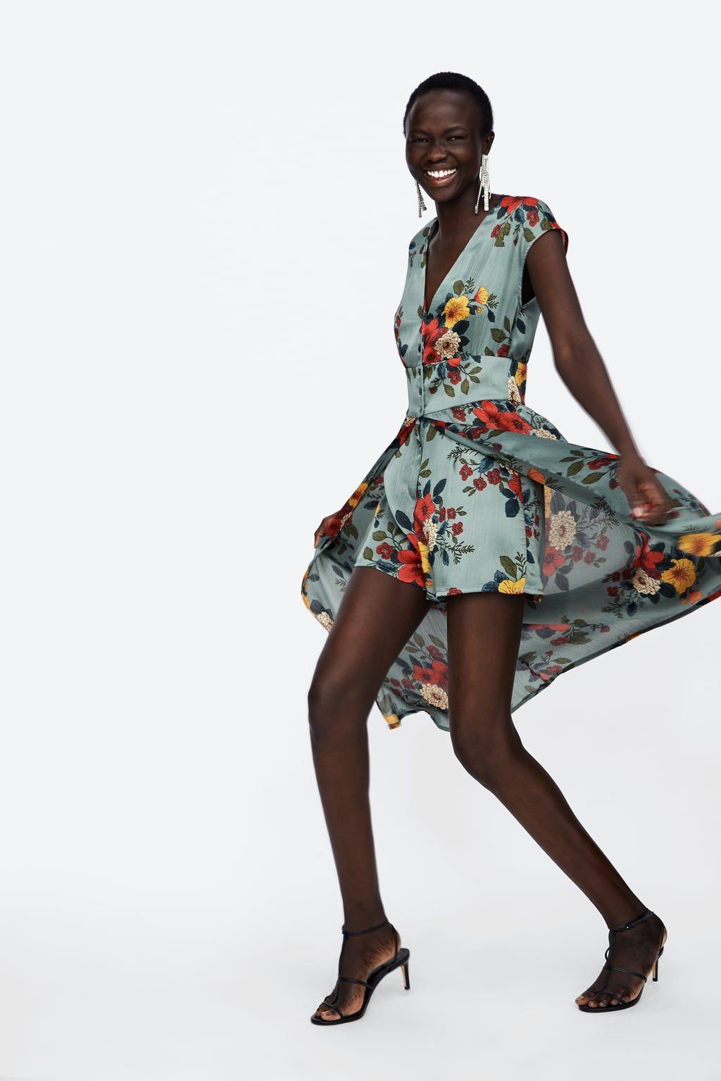 predominante Promoción de ventas descuento Imagen 3 de MONO VESTIDO ESTAMPADO FLORAL de Zara ...