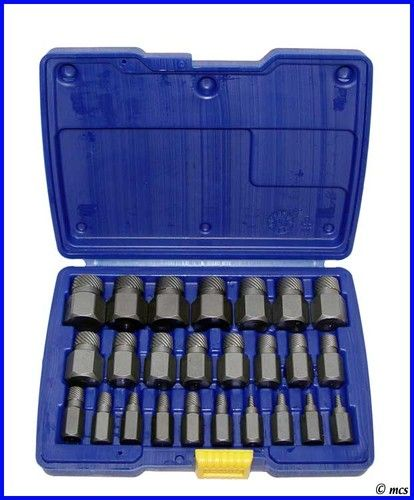 5pc BOLT SCREW REMOVER BROKEN EXTRACTOR KIT EZ EASY OUTS OUT STUD REVERSE THREAD