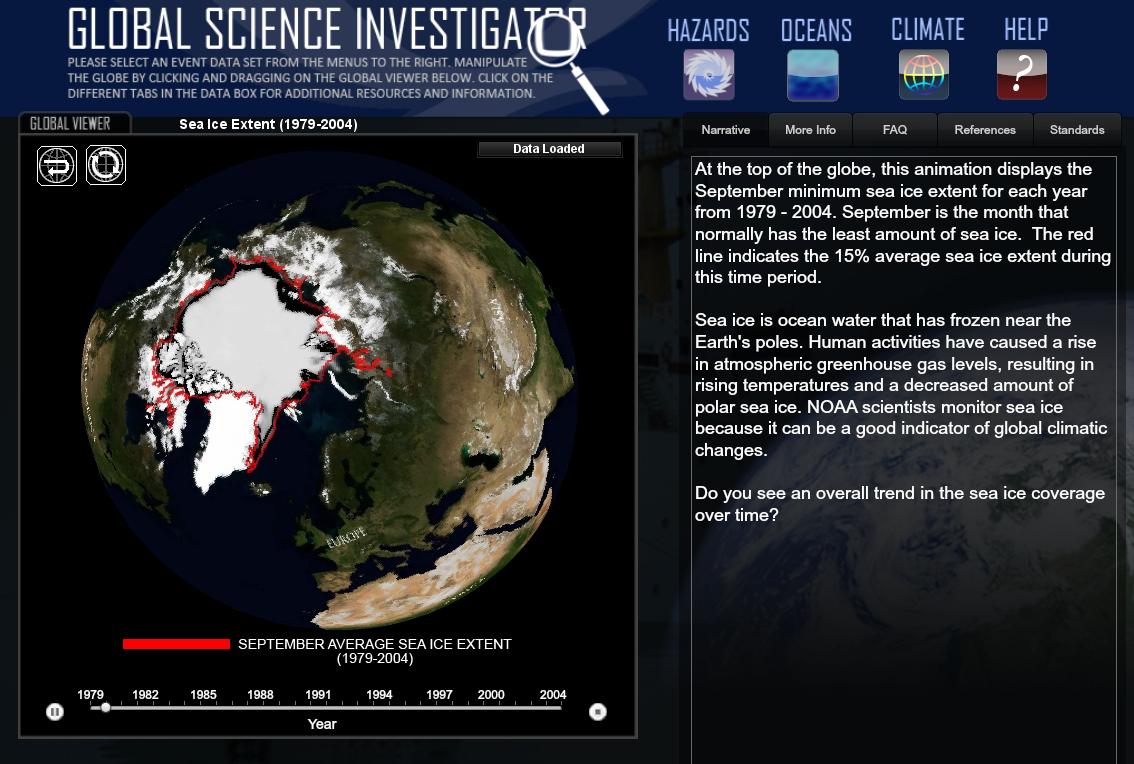 Visualizzatore globale di fenomeni terrestri / Global Science Investigator